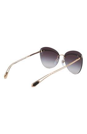 Женские солнцезащитные очки BVLGARI черного цвета, арт. 6130-20148G | Фото 4