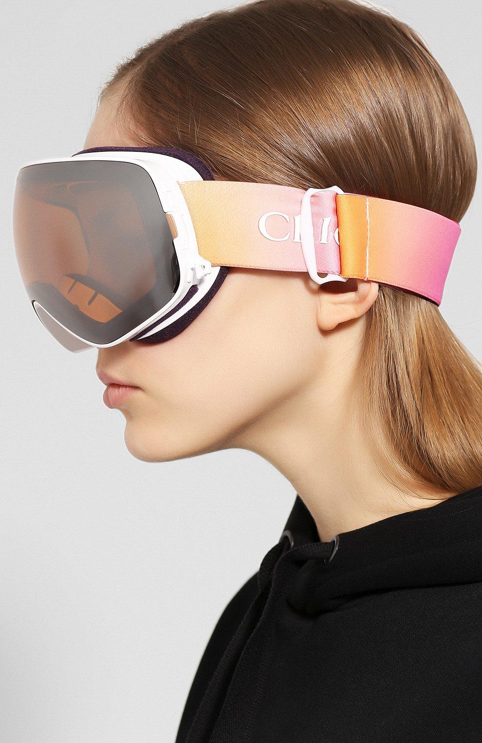 Женские горнолыжная маска CHLOÉ розового цвета, арт. DR X2S CASSIDY-960 | Фото 2
