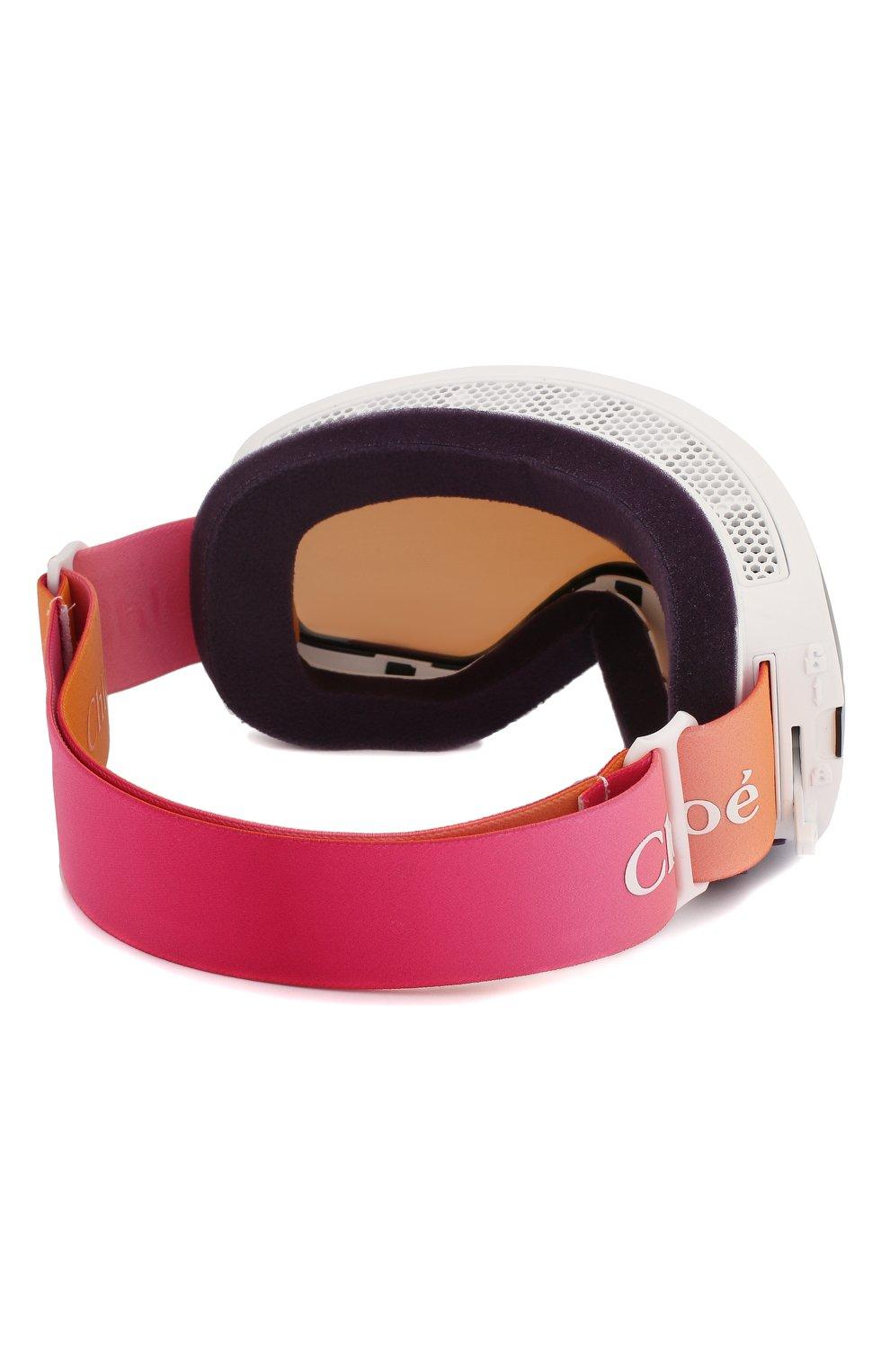 Женские горнолыжная маска CHLOÉ розового цвета, арт. DR X2S CASSIDY-960 | Фото 4
