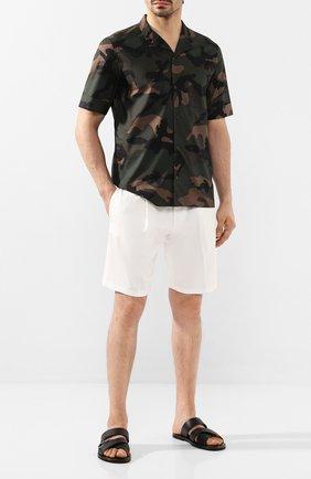 Мужские кожаные шлепанцы SALVATORE FERRAGAMO черного цвета, арт. Z-07107433E | Фото 2