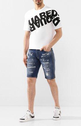 Мужские кожаные кеды PHILIPP PLEIN белого цвета, арт. S20S MSC2661 PTE003N | Фото 2