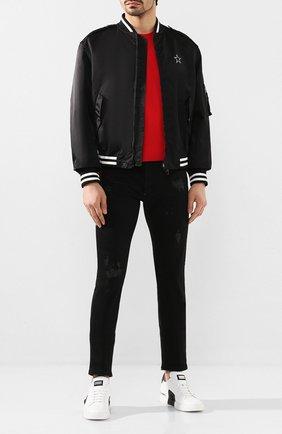Мужские кожаные кеды PHILIPP PLEIN черно-белого цвета, арт. S20S MSC2732 PLE075N | Фото 2