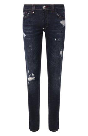 Мужские джинсы PHILIPP PLEIN темно-синего цвета, арт. S20C MDT2018 PDE004N | Фото 1