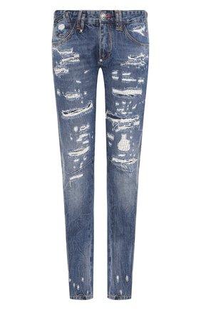 Мужские джинсы PHILIPP PLEIN синего цвета, арт. S20C MDT2020 PDE004N | Фото 1
