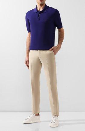 Мужское хлопковое поло ZEGNA COUTURE фиолетового цвета, арт. CSC96/C32 | Фото 2