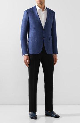 Мужские кожаные лоферы BARRETT синего цвета, арт. 191U060.11/C0RSAR0 | Фото 2