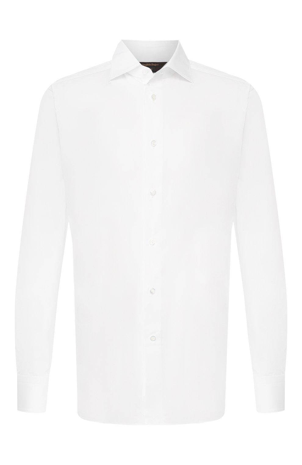 Мужская хлопковая сорочка ZEGNA COUTURE белого цвета, арт. 702063/9NS0LB | Фото 1