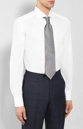 Мужская хлопковая сорочка ZEGNA COUTURE белого цвета, арт. 702063/9NS0LB | Фото 4