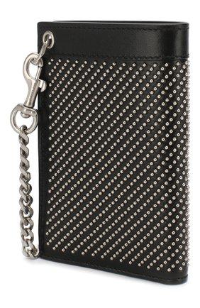 Мужской кожаное портмоне SAINT LAURENT черного цвета, арт. 606928/0VGUE | Фото 2