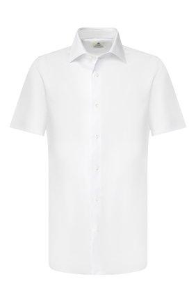 Мужская хлопковая сорочка LUIGI BORRELLI белого цвета, арт. EV08/LUCIAN0 SS/TS10700 | Фото 1