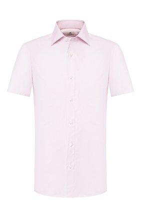 Мужская хлопковая сорочка LUIGI BORRELLI розового цвета, арт. EV08/LUCIAN0 SS/TS10700 | Фото 1