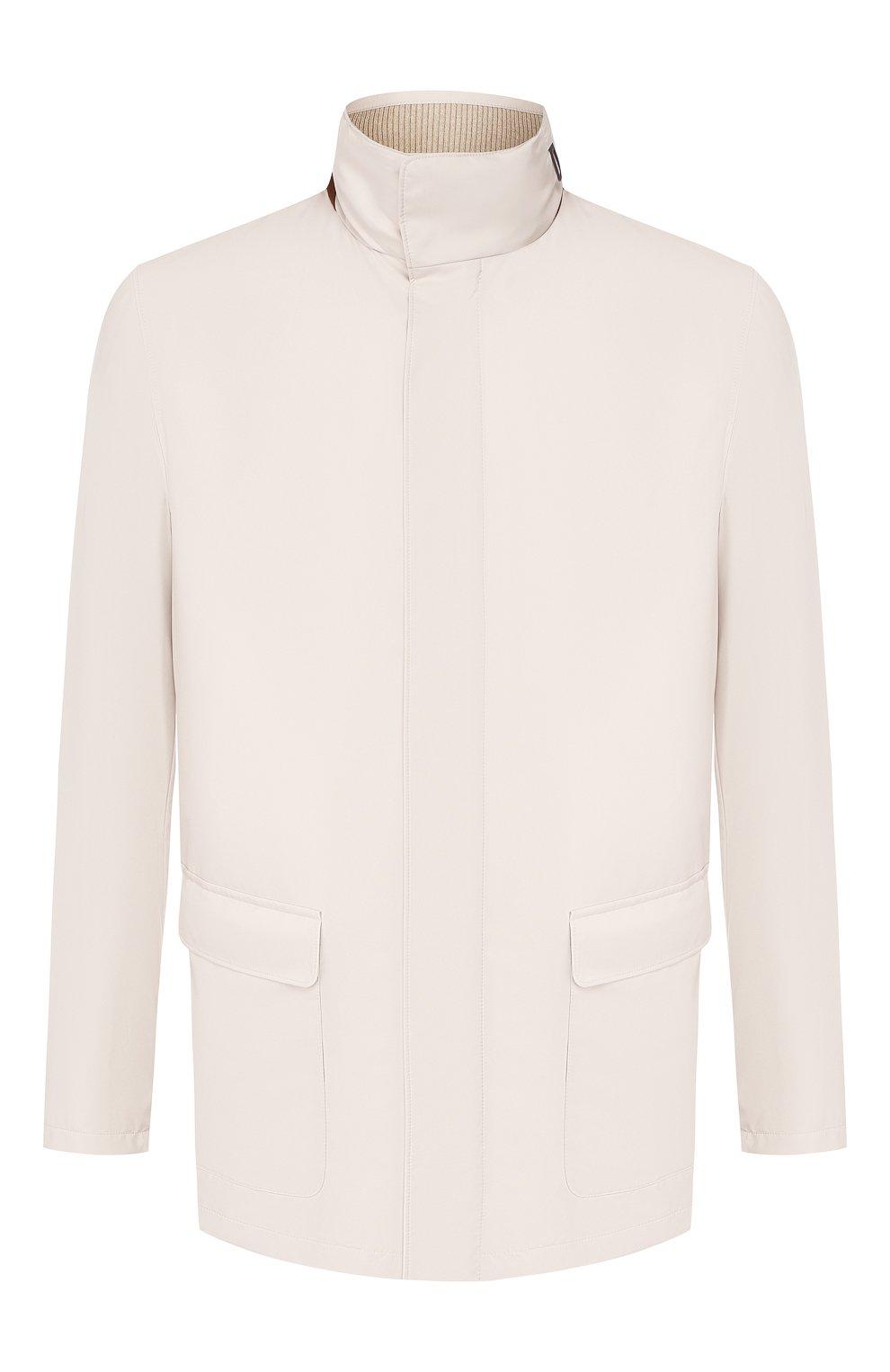 Мужская куртка LORO PIANA светло-серого цвета, арт. FAI1016   Фото 1