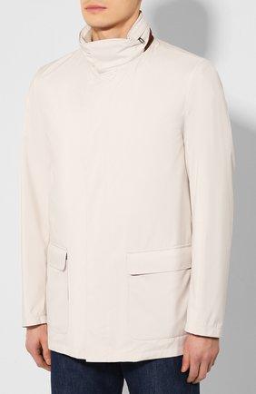 Мужская куртка LORO PIANA светло-серого цвета, арт. FAI1016   Фото 3