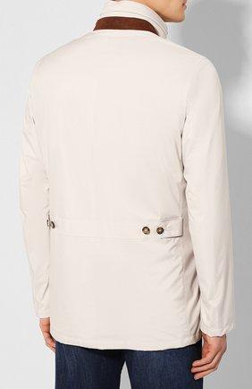 Мужская куртка LORO PIANA светло-серого цвета, арт. FAI1016   Фото 4