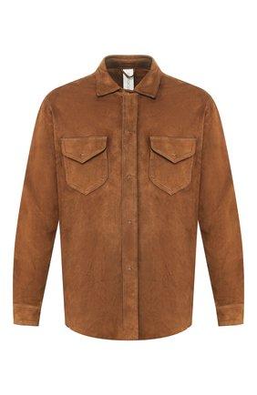 Мужская замшевая рубашка GIORGIO BRATO коричневого цвета, арт. GU20S9018SUED | Фото 1