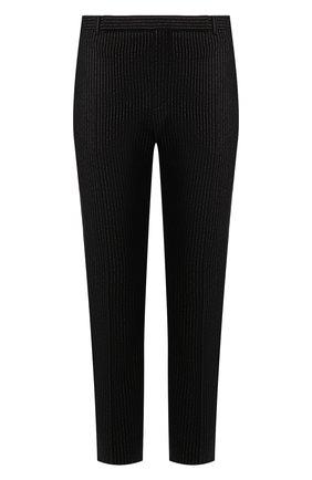 Мужской шерстяные брюки SAINT LAURENT черного цвета, арт. 596927/Y1A89 | Фото 1