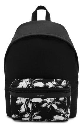 Мужской текстильный рюкзак city SAINT LAURENT черно-белого цвета, арт. 534967/9W0DU | Фото 1