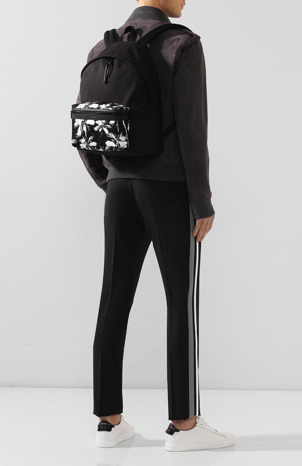 Мужской текстильный рюкзак city SAINT LAURENT черно-белого цвета, арт. 534967/9W0DU   Фото 2