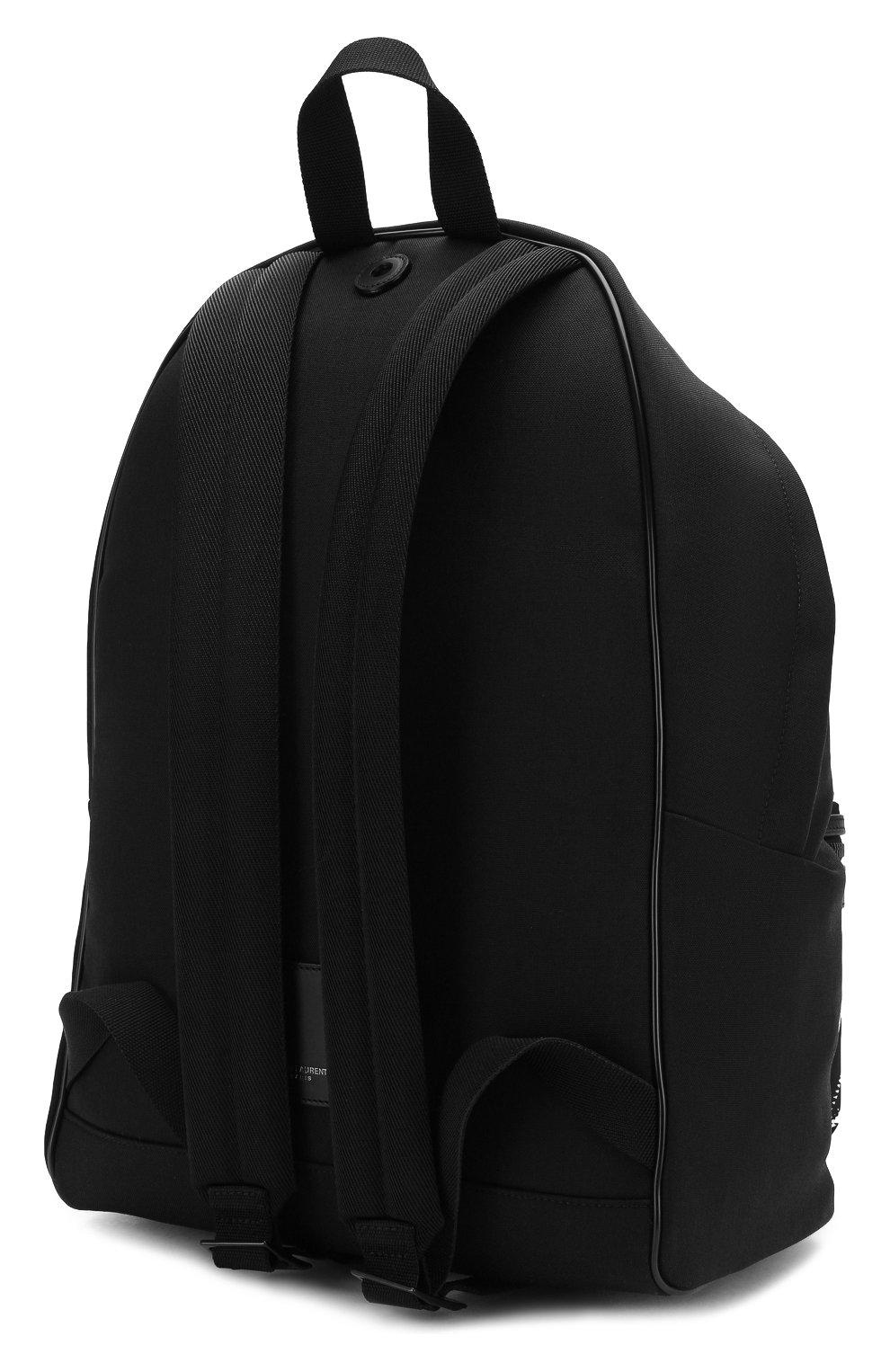Мужской текстильный рюкзак city SAINT LAURENT черно-белого цвета, арт. 534967/9W0DU   Фото 3