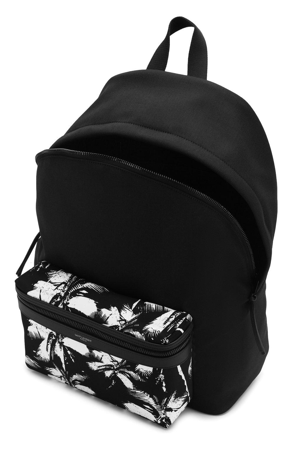 Мужской текстильный рюкзак city SAINT LAURENT черно-белого цвета, арт. 534967/9W0DU   Фото 4