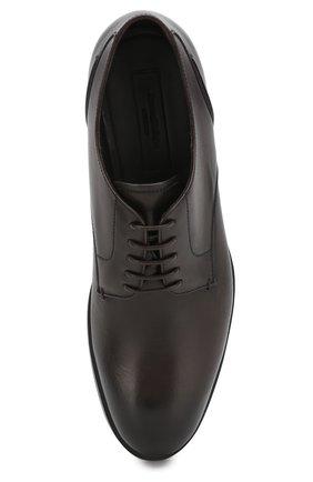 Мужские кожаные дерби ERMENEGILDO ZEGNA коричневого цвета, арт. A4465X-LHNAX | Фото 5
