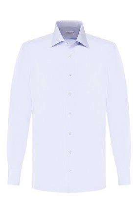 Мужская хлопковая сорочка ZILLI голубого цвета, арт. MFT-MERCU-17701/RZ01 | Фото 1