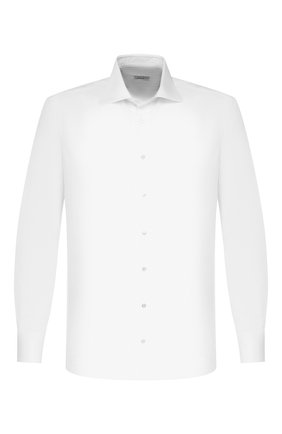 Мужская хлопковая сорочка ZILLI белого цвета, арт. MFT-MERCU-73002/RZ01 | Фото 1
