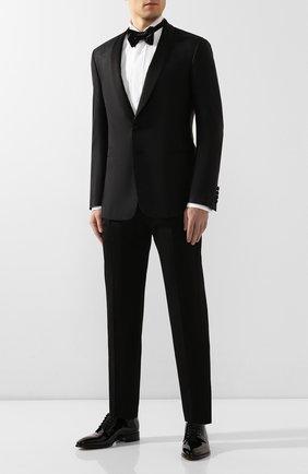Мужской пиджак из смеси шелка и шерсти GIORGIO ARMANI черного цвета, арт. 0SGGG0EC/T01K6 | Фото 2