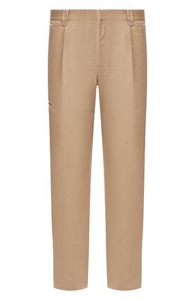 Мужские брюки из смеси хлопка и кашемира BRIONI бежевого цвета, арт. RPN60M/P603C/D0L0MIA | Фото 1