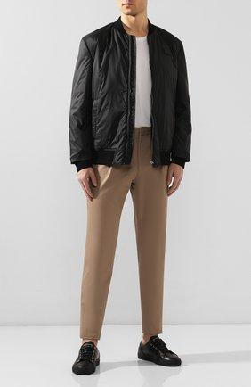 Мужские брюки из смеси хлопка и кашемира BRIONI бежевого цвета, арт. RPN60M/P603C/D0L0MIA | Фото 2