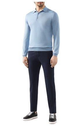 Мужское поло из кашемира и шелка BRIONI светло-голубого цвета, арт. UMR30L/P9K28 | Фото 2