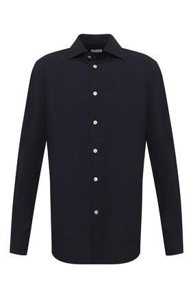 Мужская рубашка KITON темно-синего цвета, арт. UCIH0720903 | Фото 1