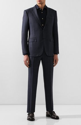 Мужская рубашка KITON темно-синего цвета, арт. UCIH0720903 | Фото 2