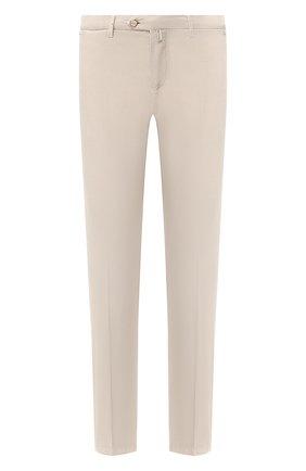 Мужские брюки из смеси хлопка и шелка KITON бежевого цвета, арт. UFPP79J07S49 | Фото 1