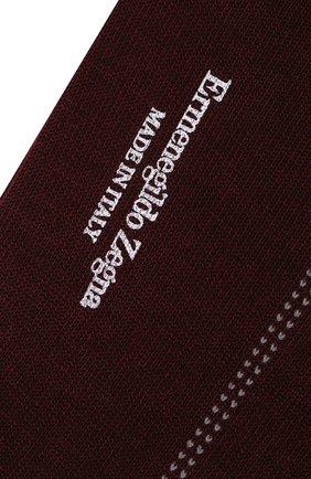 Мужские хлопковые носки ERMENEGILDO ZEGNA бордового цвета, арт. N5V402780 | Фото 2
