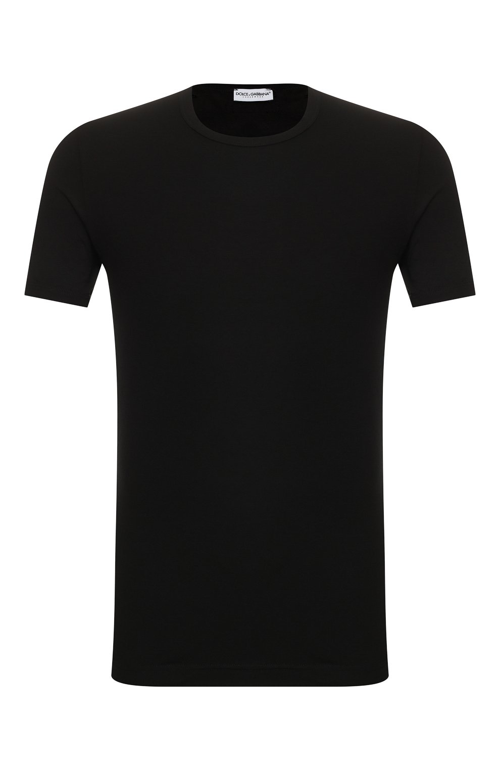 Мужская хлопковая футболка DOLCE & GABBANA черного цвета, арт. M8E02J/FUGIA   Фото 1