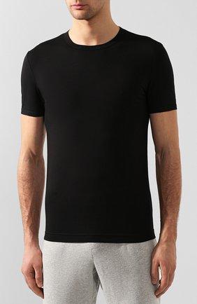 Мужская хлопковая футболка DOLCE & GABBANA черного цвета, арт. M8E02J/FUGIA   Фото 3