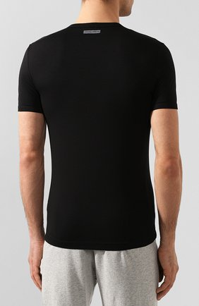 Мужская хлопковая футболка DOLCE & GABBANA черного цвета, арт. M8E02J/FUGIA   Фото 4
