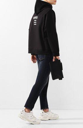 Мужская текстильная поясная сумка logo millennials DOLCE & GABBANA черного цвета, арт. BM1730/AJ772 | Фото 2
