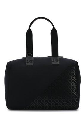 Мужская текстильная дорожная сумка logo millennials DOLCE & GABBANA черного цвета, арт. BM1739/AJ772 | Фото 1