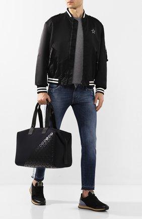 Мужская текстильная дорожная сумка logo millennials DOLCE & GABBANA черного цвета, арт. BM1739/AJ772 | Фото 2