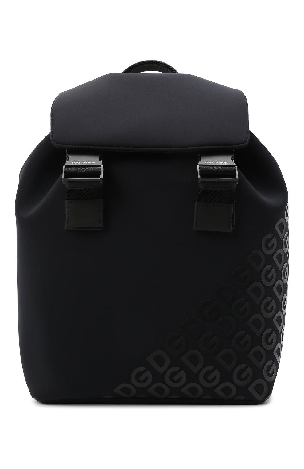 Мужской текстильный рюкзак logo millennials DOLCE & GABBANA черного цвета, арт. BM1809/AJ772 | Фото 1