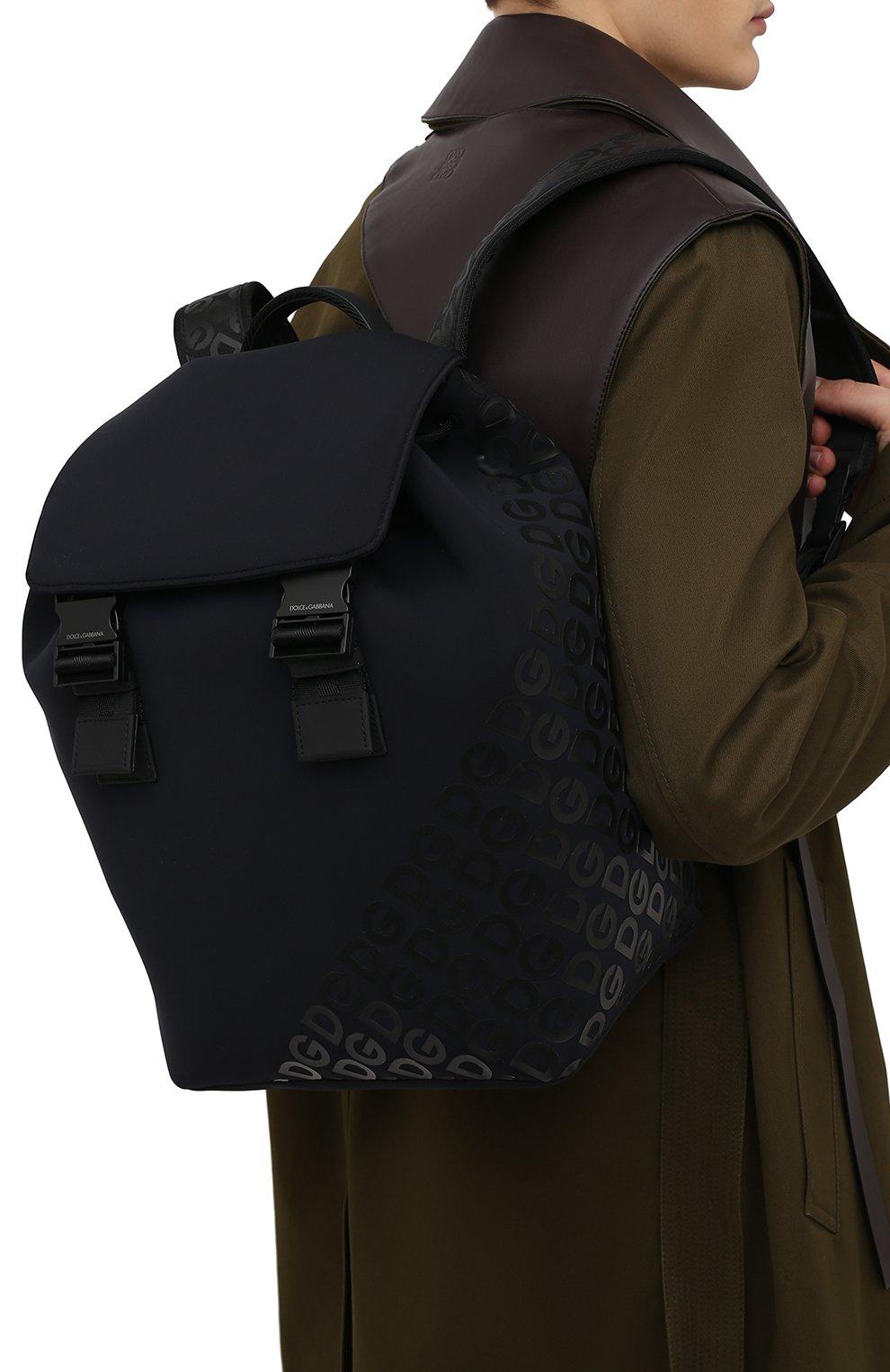 Мужской текстильный рюкзак logo millennials DOLCE & GABBANA черного цвета, арт. BM1809/AJ772 | Фото 4