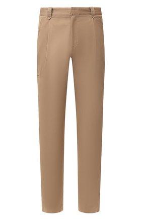 Мужские брюки из хлопка и кашемира BRIONI бежевого цвета, арт. RPN60L/P603C/D0L0MIA | Фото 1