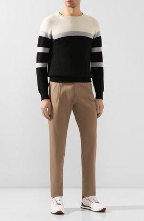 Мужские брюки из хлопка и кашемира BRIONI бежевого цвета, арт. RPN60L/P603C/D0L0MIA | Фото 2