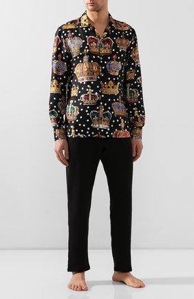 Мужская шелковая сорочка DOLCE & GABBANA разноцветного цвета, арт. G5EM2T/HS196 | Фото 2