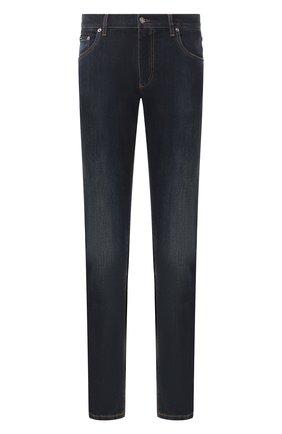 Мужские джинсы DOLCE & GABBANA темно-синего цвета, арт. GY07CD/G8BY4 | Фото 1