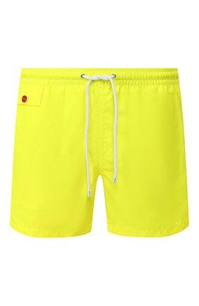 Детского плавки-шорты KITON желтого цвета, арт. UC0M2CX08S17 | Фото 1