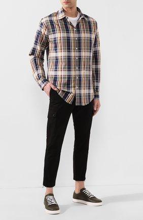 Мужская рубашка из смеси хлопка и льна DSQUARED2 разноцветного цвета, арт. S74DM0328/S52596 | Фото 2