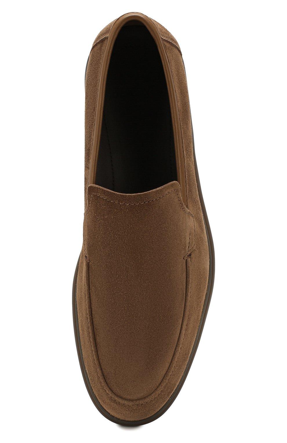 Мужские замшевые лоферы BERLUTI коричневого цвета, арт. S5014-003   Фото 5 (Материал внутренний: Натуральная кожа; Стили: Кэжуэл)